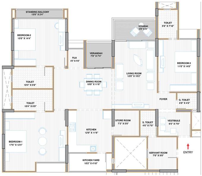 Flat Plan · Floor Plan